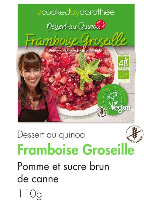 Dessert Quinoa Framboise Groseille