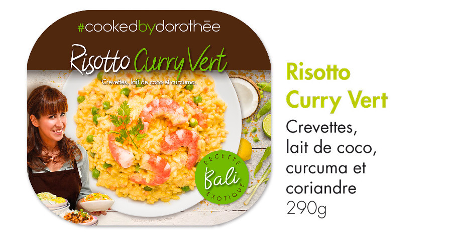 Risotto curry vert