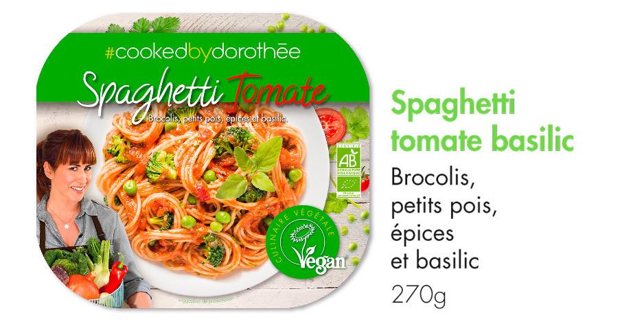 Spaghetti tomate basilic