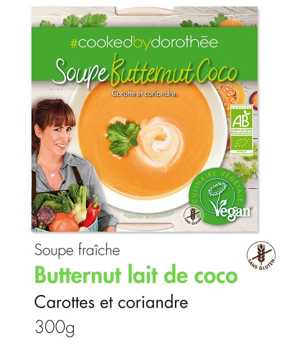 Soupe butternut lait de coco